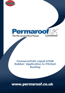 Permaroof500 Liquid EPDM Application to Pitched Roofing