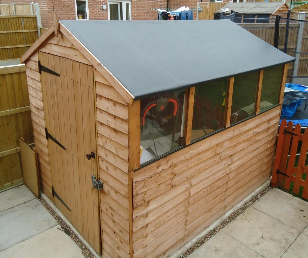 Replace Your Shed Roof For The Last Time With Epdm Flat